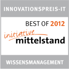 Best of award for innovation in knowledge management 2012