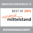 Best of award for innovation in knowledge management 2015
